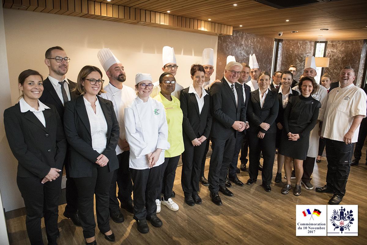 Président Macron au restaurant Le Bellevue